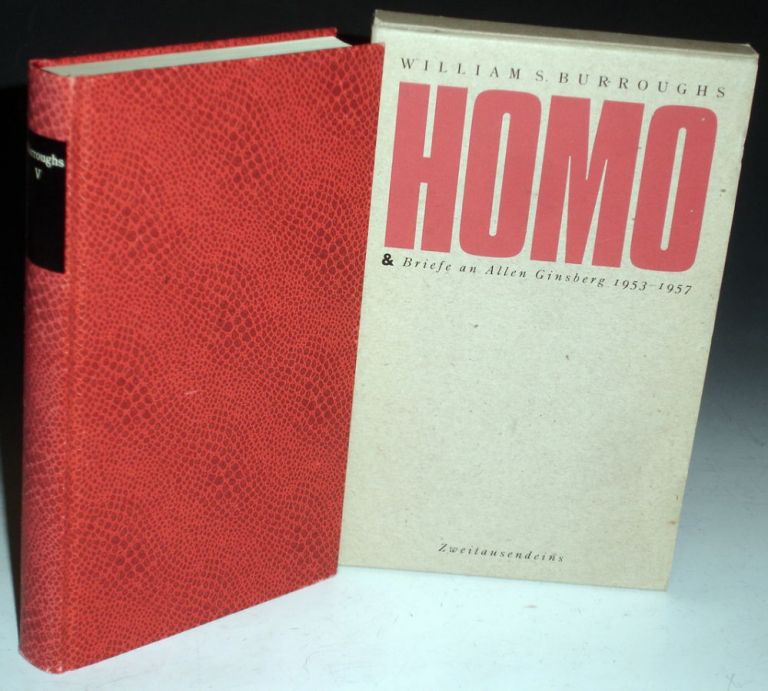 Homo Briefe an Allen Ginsberg 1953-1957. William Burroughs, Carl trans. Weissner.