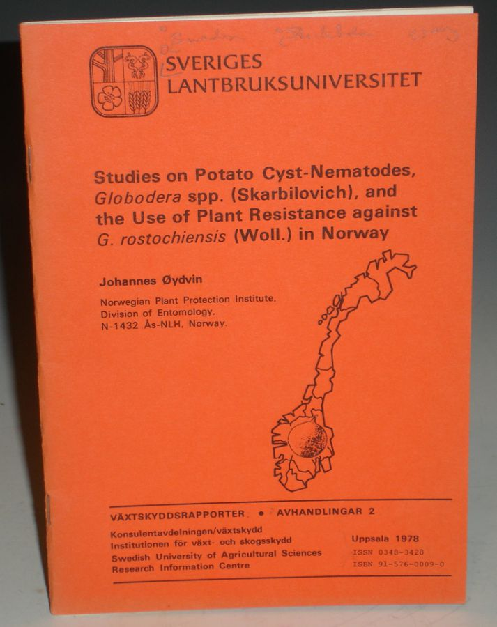 Studies on Potato Cyst-Nematodes, Globodera Spp. (Skarbiliovich) and the Use of Plant Resistance Against G. Rostochiensis (Will.) In Norway. Johannes Oydvin.