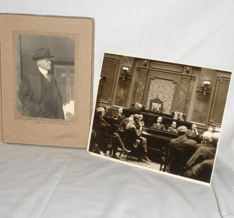 Signed Photograph of Herbert Hoover Circa 1940 with Photograph of Colorado River Commission