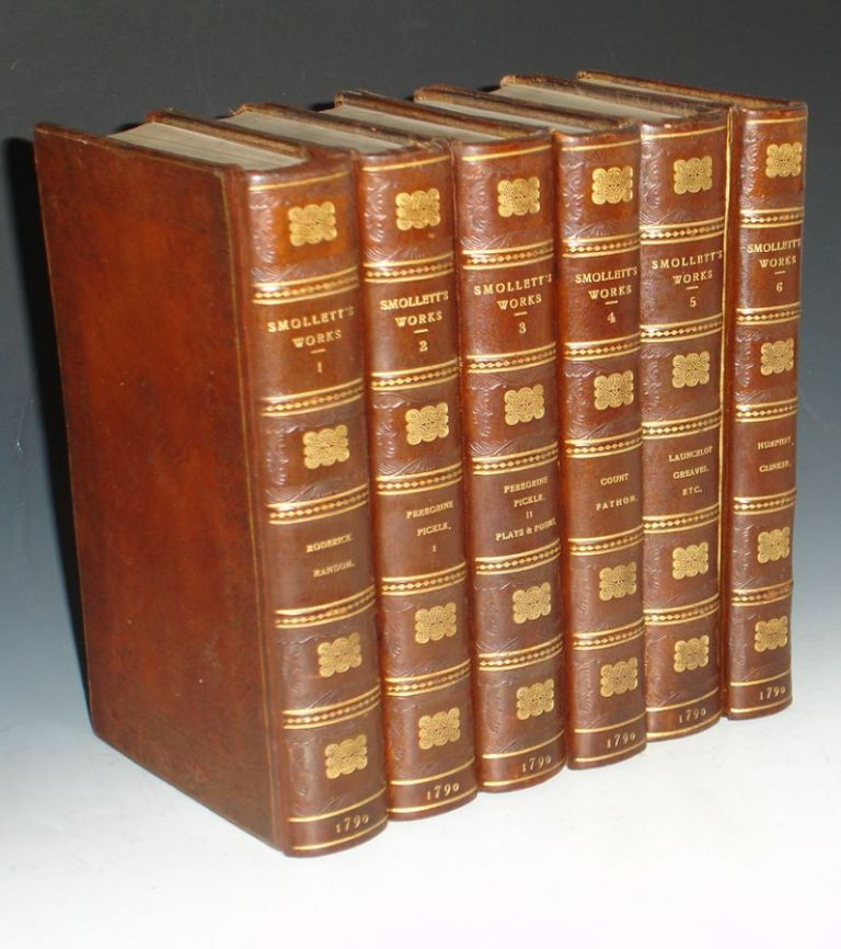 The Miscellaneous Works of Tobias Smollett, M.D (6 Volume Set and extra-illustrated). Tobias Smollett.