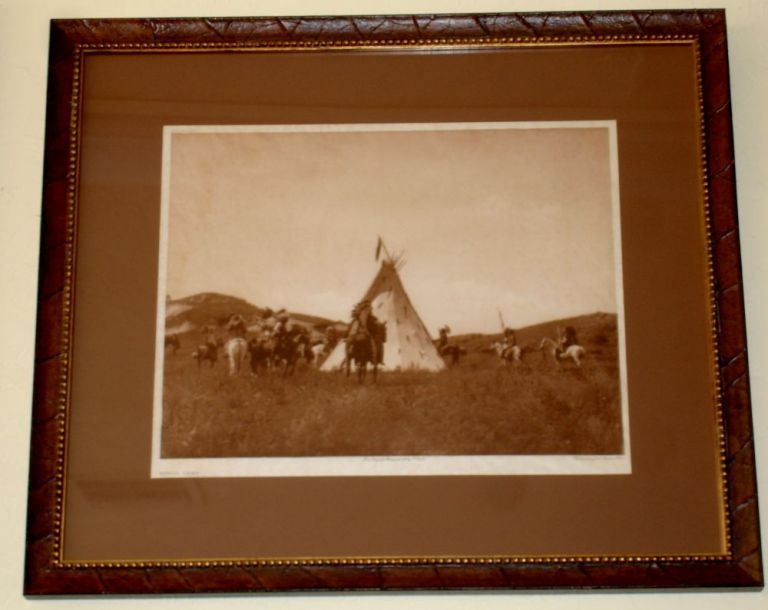 Sioux Camp [North American Indian, framed]. Edward Sheriff Curtis.