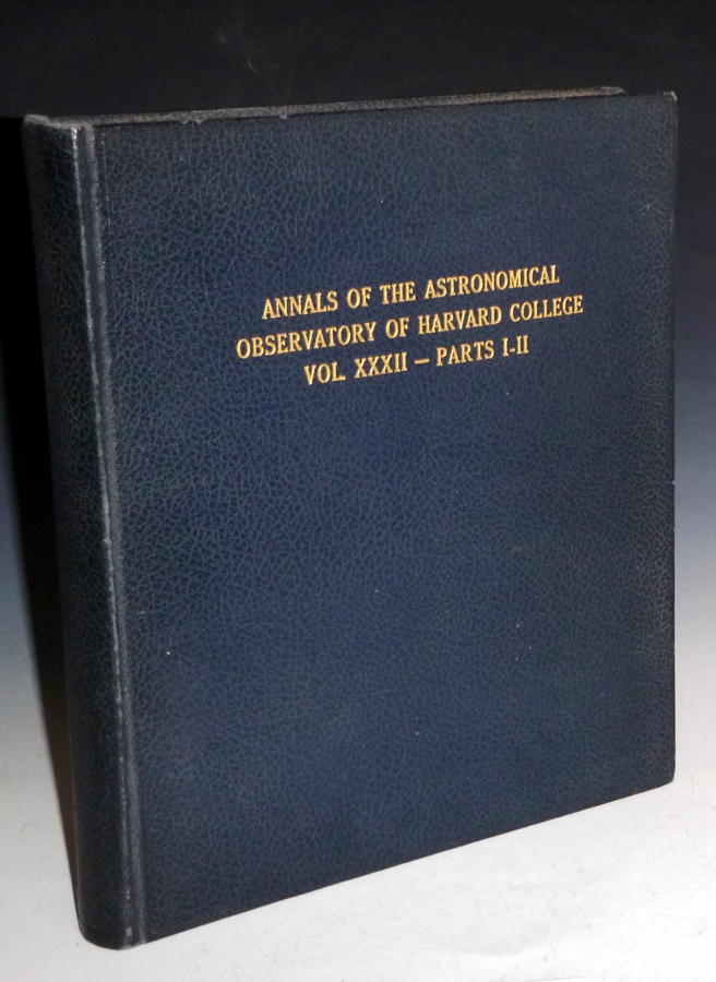Annals of the Astronomical Observatory of Harvard College. William H. And Edward C. Pickering Pickering, director.