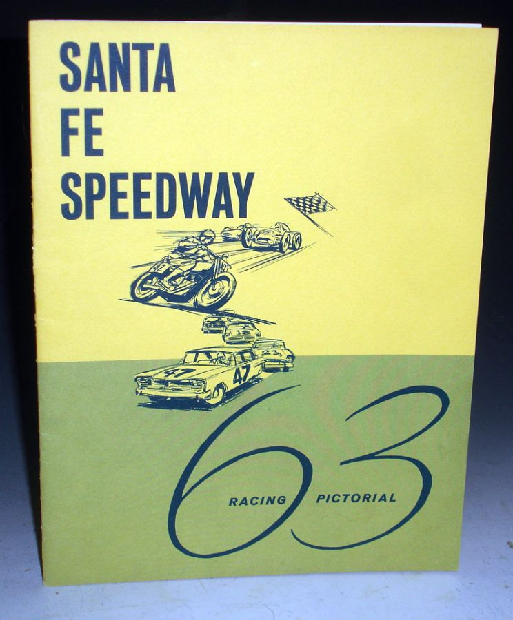 Santa Fe Speedway Racing Pictorial with 4 Souvenirs Programs