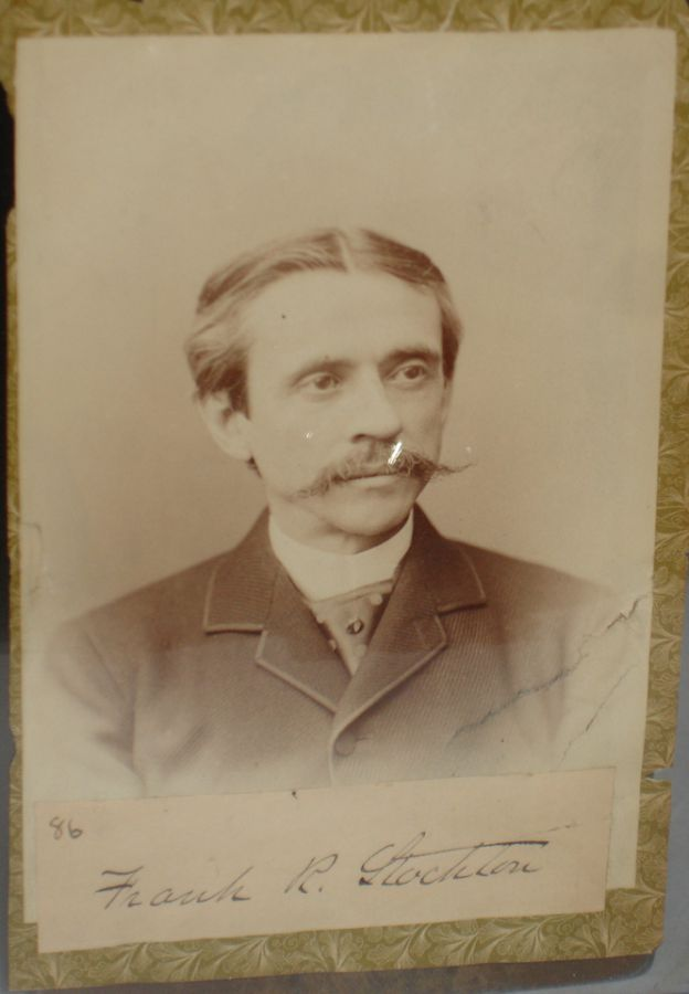 Signed Cabinet Photograph of Frank R. Stockton