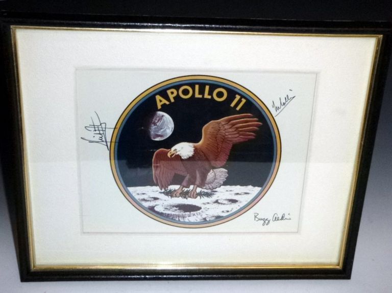 NASA Official 1969 Official Badge By the Entire Crew of Apollo 11 for  Gordon Bell, U S Consul to Australia, November 1969 on Alcuin Books, Ltd