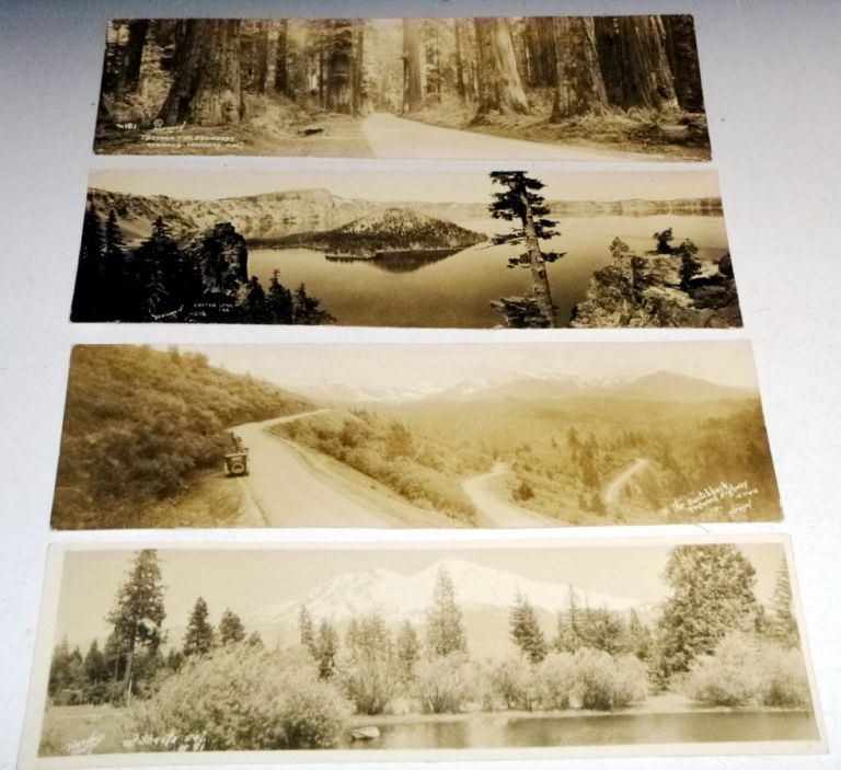 "4 Harwood Photographs: ""Through the Redwoods"", ""Crater Lake, Ore"", ""the Switchback, Redwood Highway"" and ""Mt. Shasta, Cal"" Burhl Ronell Harwood."