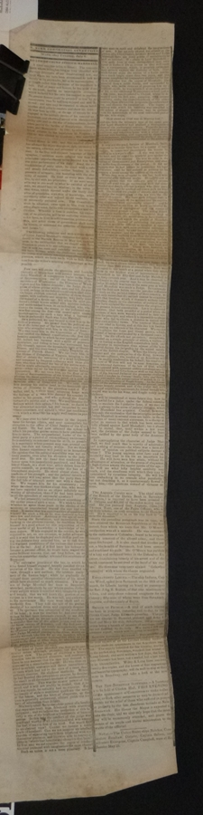 """Death of Chief Justice Marshall"" in July 8, 1835 New York Commerical Advertiser"