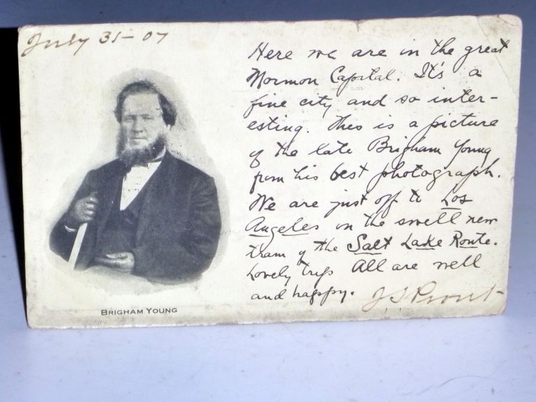 Mormon Postcard of Brigham Young, July 31, 1907