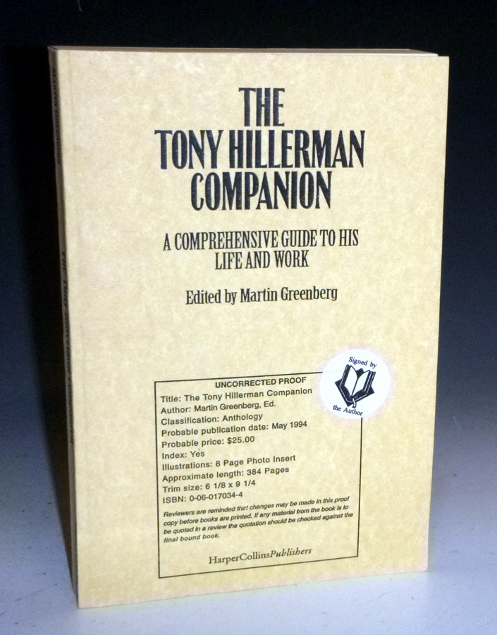 The Tony Hillerman Companion; a Comprehensive Guide to His Life and Work (signed By Tony Hillerman. Martin Greenberg.