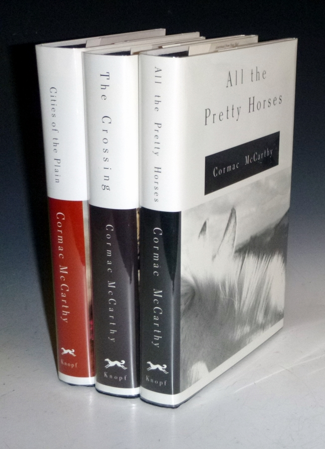 All the Pretty Horses; The Crossing (signed); Cities of the Plain; 3 Volume Set, All First Editions. Cormac McCarthy.