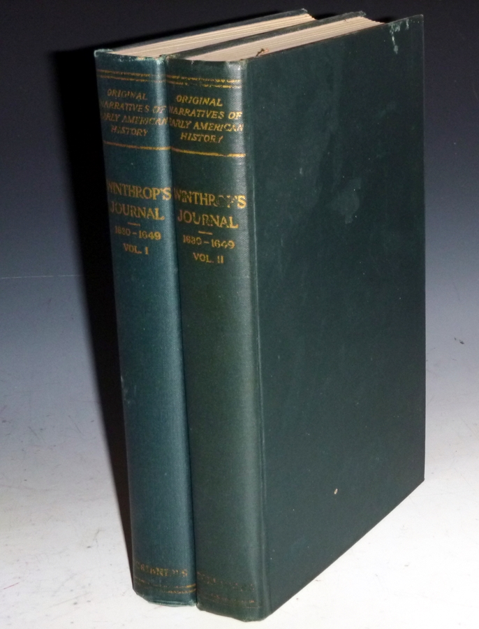 """Winthrop's Journals """"History of New England"""" (Original Narratives of Early American History), 2 Vol Set. James Kendall Hosmer."""