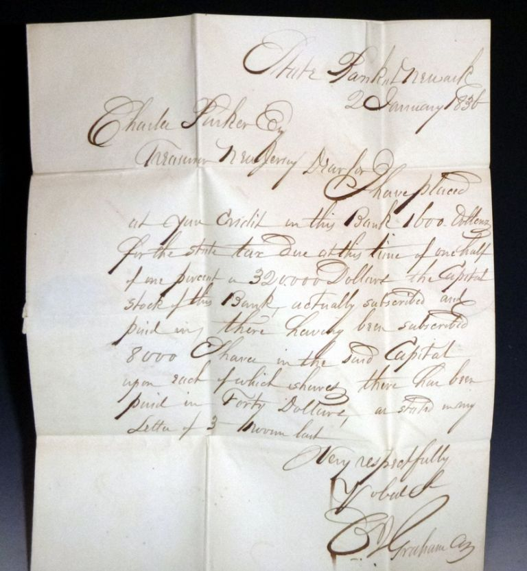 1als, to Charles Parker, State Treasurer, New Jersey (January 2, 1836). S. C. G. Graham.