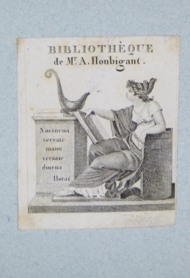Bookplate for the Library of Mr. A. Houbigant. Armand-gustave Houbigant.