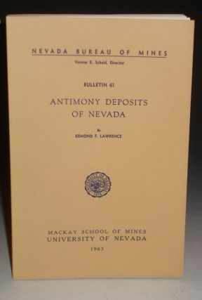 Antimony Deposits of Nevada. Edmond F. Lawrence.