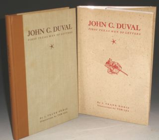 John C. Duval, First Texas Man of Letters. J. Frank Dobie.