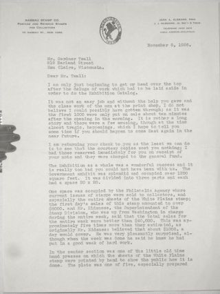 A Rare 3 Page TLS Letter from John A. Klemann, the Organizer of the International Philatellic...