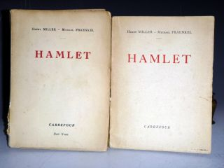 Hamlet (2 Volume set), Volume 2 Signed By Henry Miller in Special Clamshell Case. Henry Miller,...