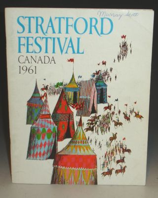 1961 Stratford Festival (signed By Paul Scofield and Joy Parker
