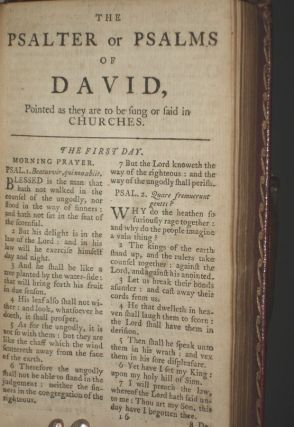 The Book of Common Prayer and Administration of the Sacraments..Combined with the Plates from the Liturgy of the Church of England..Bound with: The Psalter or Psalms of David, Pointed as They are to be Sung or Said in Churches