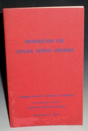 Information for Civilian Defense Wardens (December 12, 1941