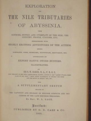 EXPLORATION OF THE NILE TRIBUTARIES OF ABYSSINA