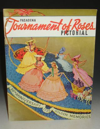 Pasadena Tournament of Roses Pictorial 50th Anniversary 1939 Golden Memoires Promotional Magazine
