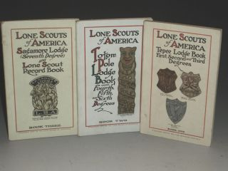 Lone Scouts of America. (three volumes). Lone Scouts of America