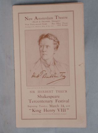 Sir Herbert Tree's Shakespeare Tercentenary Festival; King Henry VIII
