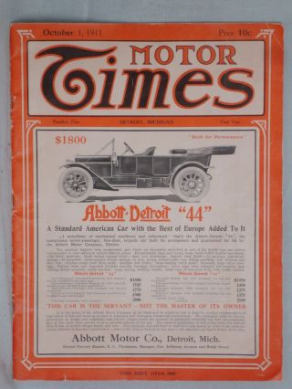 Motor Times, No. 5, First Year, Detroit