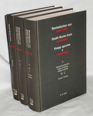 Death Books from Auschwitz; Remnants (3 Volume set). Jerzy Debski, ed. State Museum of...
