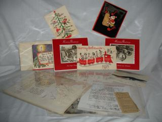 A Collection of Two Bob Hope Letters, One from Edward R. Murrow and Various Movie Stars in the...