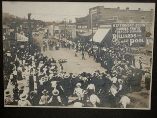 Original Photograph of a Territorial Williams Arizona Fourth of July Celebration With Staged...