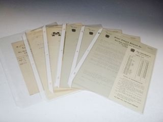 Collection of Eugene Orflinger, Automobile Parts Supplier, 1913-1915 (21 items)