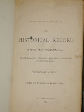 The Historical Record; a Monthly Periodical, Vol. 8 (January 1888-December 1889)