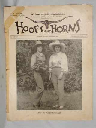 Hoofs and Horns (November 1943), XIII, No. 9