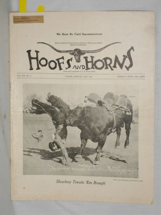 Hoofs and Horns (May 1947) Vol. XVI, No. 11