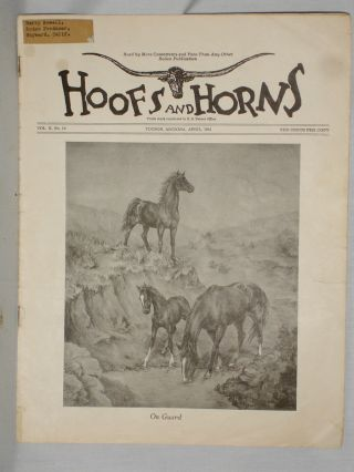 Hoofs and Horns (April 1941), Vol. X, No. 10