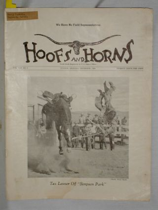 Hoofs and Horns (December 1949) Vol. XIX, No. 6