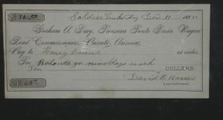 Arizona Territorial Check at Soldier Tanks, Az Terr. , Tonto Basin Wagon Road, Prescott, Arizona,...