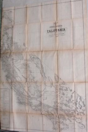 Map of Public Surveys in California to Accompany Report of Surveyor General, 1860. James W....