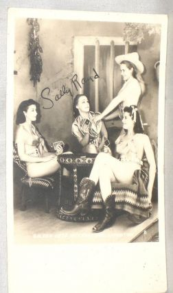 Sally Rand Photo Postcard Signed By Her