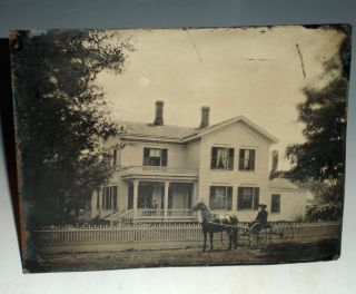 Tintype of Illinois Home,(ca.1890