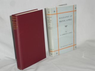 Biography of Percival Lowell. A. Lawrence Lowell
