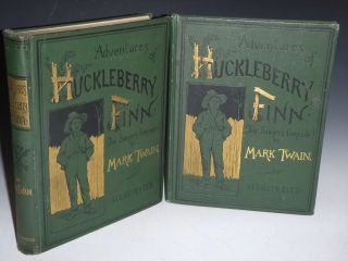 Adventures of Huckleberry Finn Together with the Rare Publisher's Salesman's Sample. Mark...
