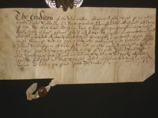 Land Deed Dated 1629-Vellum