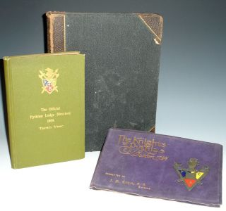Knights of Pythias (scrapbook); The knights of Pythias Boston and The Official Pythian Lodge...