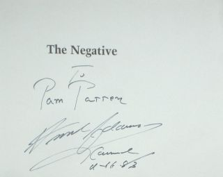 The Negative (Inscribed By Adams)