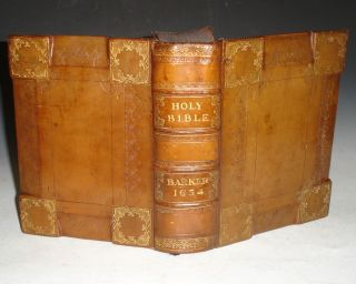 The Holy Bible Containing the Old Testament and the New. Newly Translated Out of the Originall Greek; and with the Former Translations Diligently Compared and Revised, By His Majesties Special Command; Appointed to be Read in Churches. Bible. English. Geneva, Printer Robert Barker.