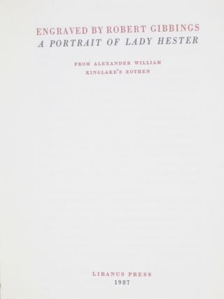 A Portrait of Lady Hester. From Alexander William Kinglake's Eothen