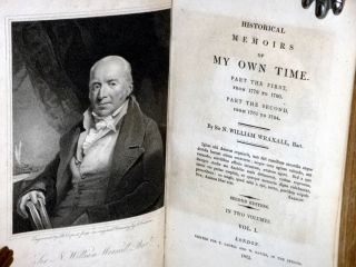 Historical Memoirs of My Own Time. Part the First, from 1772 to 1780, Part the Second from 1781 to 1784